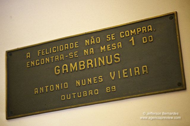 Mesa 1 do Gambrinus