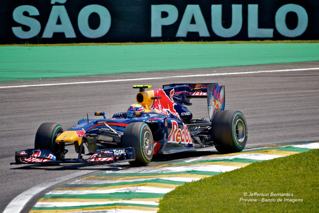 Mark Webber em Interlagos
