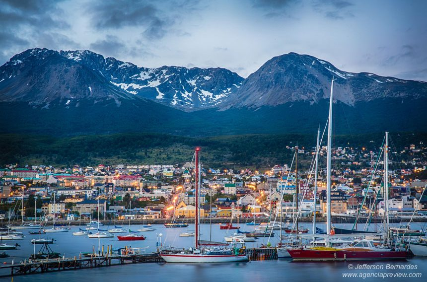 Ushuaia vista do Porto